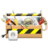 Vector Toolbox with Electric Accessories