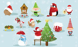 Christmas and New Year holiday Icons and attributes vector image design set for you illustration, design, postcards, labels, stickers and other creative needs.