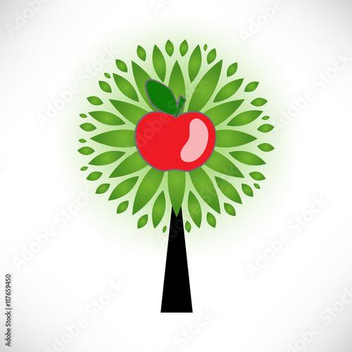 Naklejka apple tree