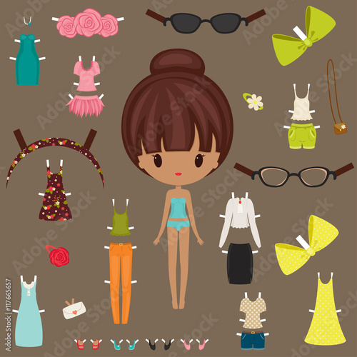 dress up paper doll with body template buy photos ap images