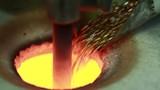 Goldsmith melting gold