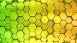 Animated Colored Honeycombs