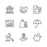 basic finance thin line icons