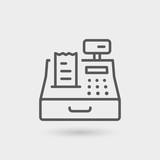 cash register icon background