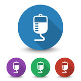 White Transfusion icon in different colors set