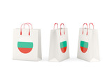 Flag of bulgaria on shopping bags