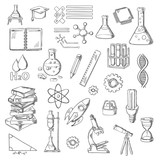 Fototapety Science and education sketch symbols