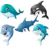 Fish cartoon set collection