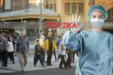 Zika virus concept, Stop Zika Virus