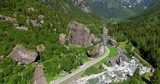 Aerial 4k - Sasso di Remenno - Val Masino - Valtellina (IT)