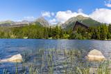 Strbske Pleso lake with Tatra mountains in background, Slovakia, Europe