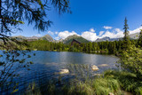 Strbske Pleso lake with Tatra mountains in background, Slovakia, Europe