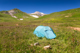 Tents near the Mount Oshten, Russia, West Caucasus