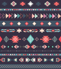 Aztec tribal pattern with geometric elements