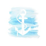 Watercolor anchor