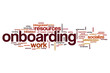 Onboarding word cloud concept