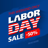 This weekend only Labor Day Sale banner