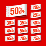 White discount sale labels