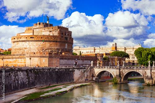 Fototapeta Landmarks of Italy - Castle Sant Angelo in Rome