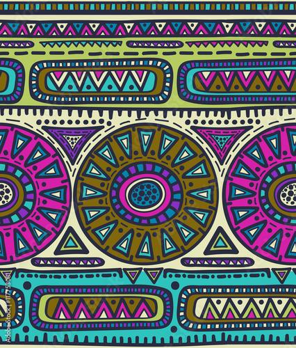 Materiał do szycia Wektor wzór dla plemiennych projektowania. Etnicznym motywem.