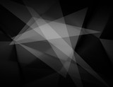 Fototapety Abstract black and white polygonal background