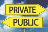 Private x Public yellow sign