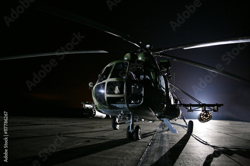 obraz PCV Russian military helicopters, night