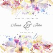 Floral wedding invitation in watercolor style - 117790037