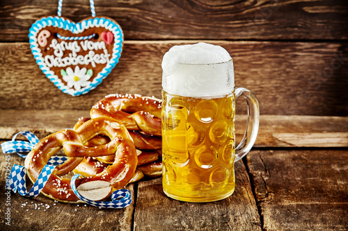 Delicious snacks served for the Oktoberfest