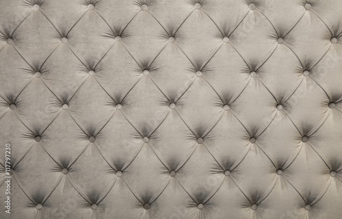 Poster White capitone tufted fabric upholstery texture
