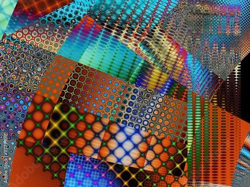 Fototapeta Fractal digital art background