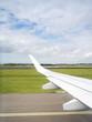 view thru an airplane window - 117804622