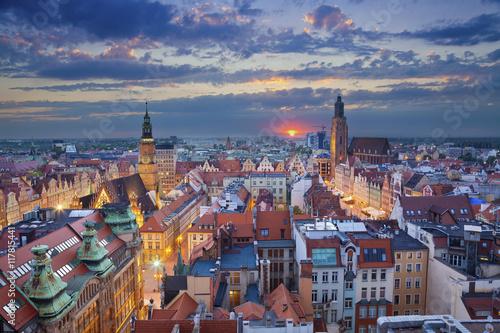 Fototapeta Wrocław o zmroku