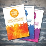 Watercolor party flyers