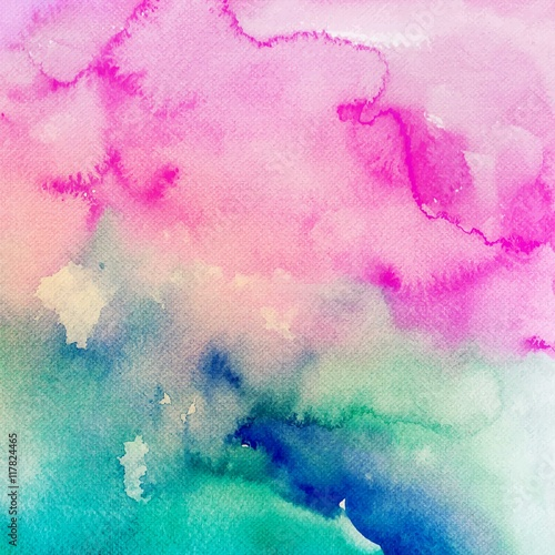 Colorful watercolor background - 117824465