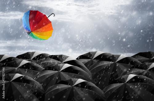 Poster Umbrella in Storm.