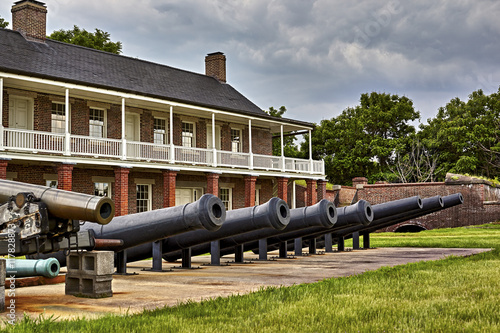 Cannon at Fort Washington, Military fort established in the 1800's to protect Wa Poster