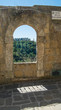Arched window with view, Sorano, Tuscany - 117836013