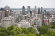 View of downtown Montreal from the top of Mont Royal Park.