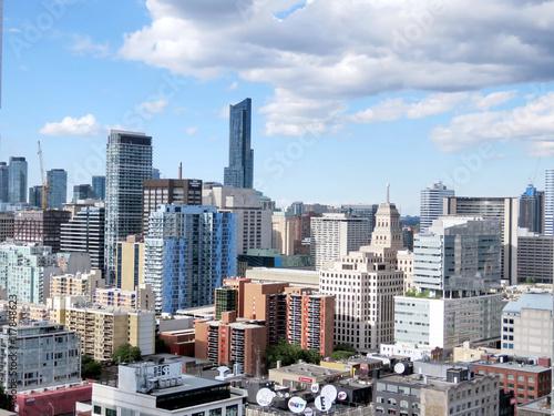 Toronto view of skyscrapers 2016