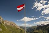 Austrian Flag in the Alps