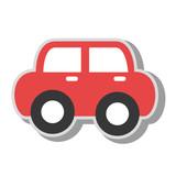 vintage car kid toy icon vector illustration