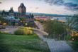 chateau forntenac and old quebec city in blue hour