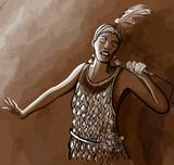 Afro american jazz singer - 117876447