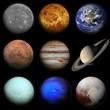Solar system. Planets on black background. - 117884659