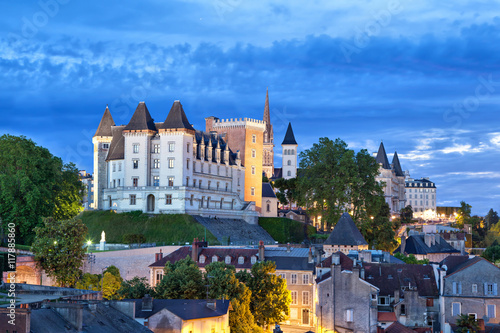 View on Pau castle in the evening