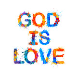 God is love. Splash paint