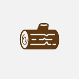 Wood icon vector, log solid logo illustration, pictogram isolated on white
