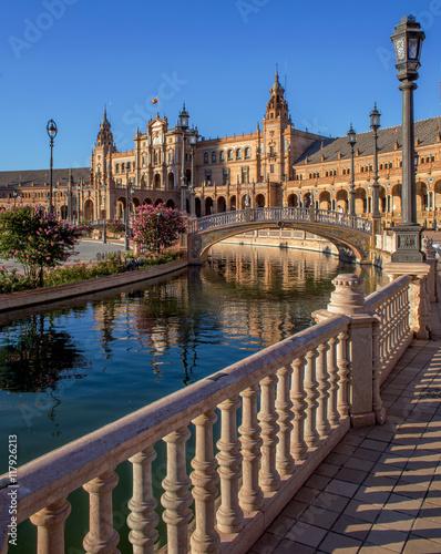 Detalle de la Plaza de España de Sevilla