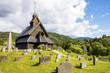 Eidsborg wooden stave church in Telemark Norway